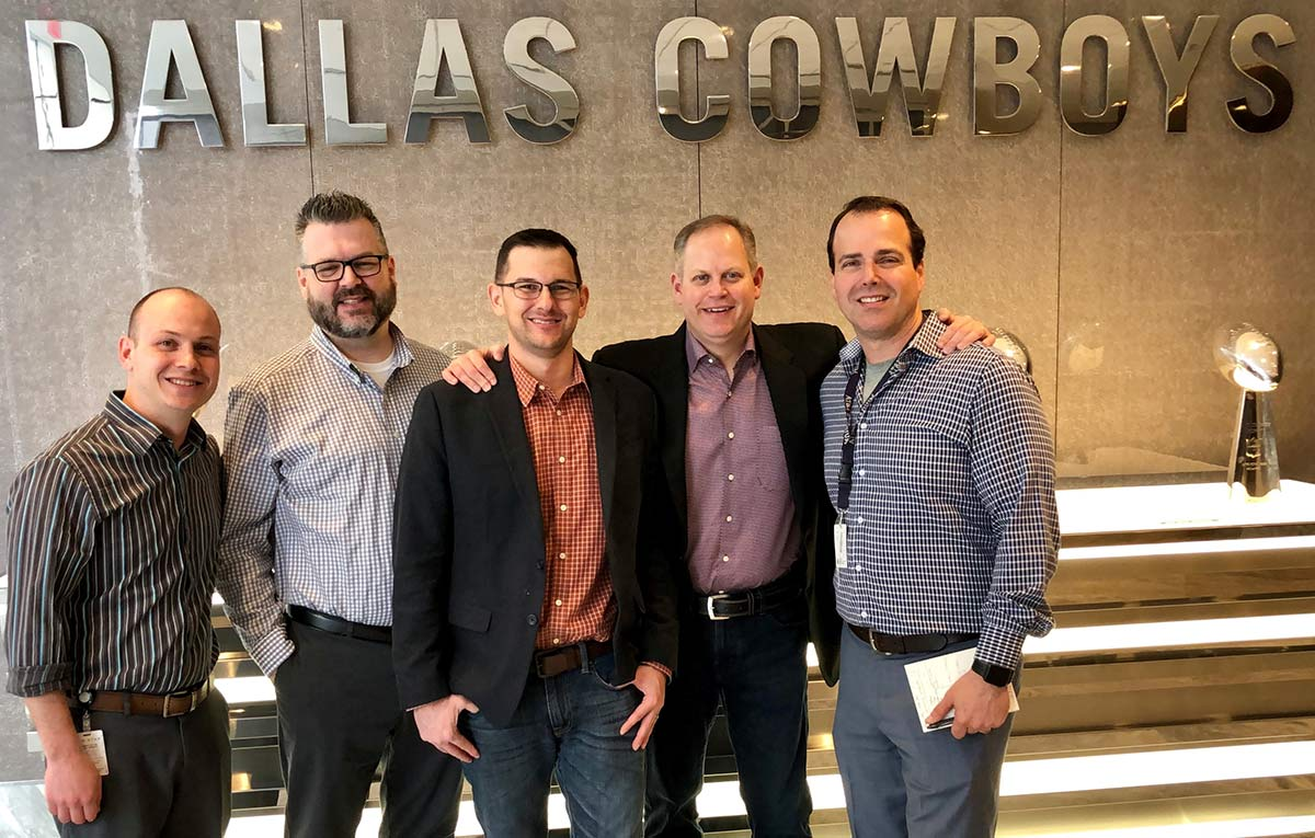Steve Schwartz and Dallas Cowboys executives image